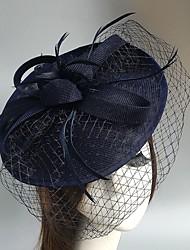 Capacete Fascinador Chapéus Véus de Rede 1 Peça