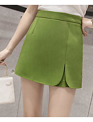 Women's Holiday Mini Skirts A Line Solid Summer