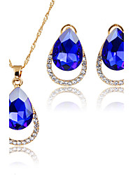 Women's Jewelry Set Pendant Necklaces Bridal Jewelry Sets AAA Cubic Zirconia Euramerican Fashion Simple Style ClassicZinc Alloy