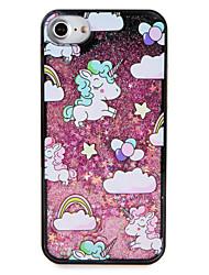 Cas pour apple iphone 7 7 plus ballon de licorne brillant brillant modèle fluide liquide dur pc 6s plus 6 plus 6s 6 5s 5