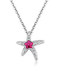 Women's Pendant Necklaces Jewelry Star Jewelry Crystal Alloy Unique Design Euramerican Fashion Jewelry 147Party Other Ceremony Evening
