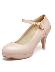 Mujer Tacones Moda Zapatos del club Zapatos formales Semicuero Todas las Temporadas Oficina/Carrera Moda Zapatos del club Zapatos formales