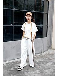 Blazer Pantalon Costumes Femme Eté Col Arrondi