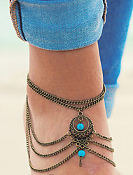 Women's Anklet/Bracelet Alloy Unique Design Fashion Simple Style Jewelry Silver Bronze Women's Jewelry Daily Casual 1pc