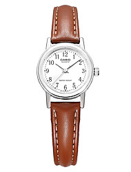 CASIO Women's Fashion Watch Wrist watch Japanese Quartz Water Resistant / Water Proof Leather Band Charm Casual Elegant Brown