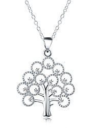 Fashion Tree of Life Statement Necklaces Jewelry 1pc Gift Silver