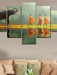 Estampados de Arte Religioso,5 Painéis Horizontal Estampado Decoração de Parede For Decoração para casa