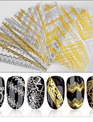 1PCS 3D Gold And Silver The Back Glue Stick BL Bud Silk Applique