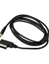 Interface de musique kkmoon ami mmi à 3,5 mm audio au câble adaptateur pour audi a3 a4 s4 a5 s5 a6 s6 a8 q3 q5 tt r8