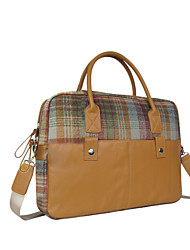 Kate&Co. portable computer bag ladies fashion Plaid / 12 inch diagonal package TH-02055 Camel