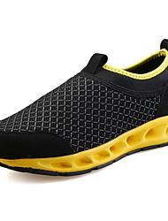 Men's Loafers & Slip-Ons Comfort Tulle Summer Athletic Comfort Flat Heel Black/Yellow Black/Blue Black/Red Gray Flat