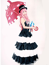 Inspired by One Piece Perona Anime Cosplay Costumes Cosplay Suits Dresses Vintage White Black Sleeveless Dress Hat For