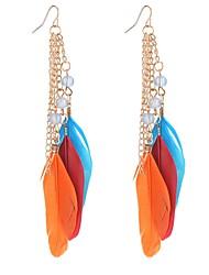 Mujer Chica Pendientes cortos Pendientes colgantes Joyas CristalDiseño Básico Circular Diseño Único Colgante Amistad Estilo Simple EEUU