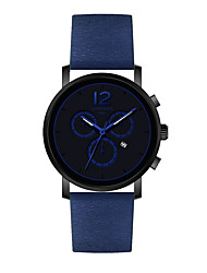 Men's Fashion Watch Chinese Quartz PU Band Casual Black Blue Red
