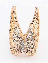 Euramerican Fashion Exaggerated The Wings Rhinestones  Rings Women's Luxury Party Rings Movie Jewelry