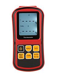 Gm1312 цифровой термометр двухканальный тестер температуры для термопары с подсветкой lcd