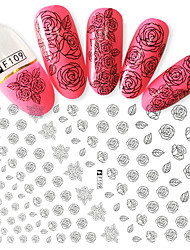 1pcs Fashion Beautiful Rose Design Nail Art DIY Beauty 3D Stickers Charming Flower DIY Decoration F109