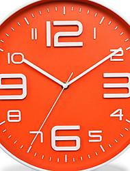 Moderno/Contemporáneo Campestre Oficina/ Negocios Náutico Vacaciones Boda Reloj de pared,Redondo Novedad Metal Plástico Interior Reloj