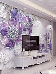arbres/Feuilles Décoration artistique 3D Print Fond d'écran pour la maison Contemporain Revêtement , Toile Matériel adhésif requis Mural,