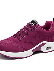 Non Customizable Women's Modern Fabric Flats Sneakers Daily Chunky Heel Blushing Pink Ruby Purple Black
