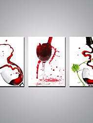 Stretched Canvas Prints Red Wine Cups Printed on Canvas Modern Art for Wall Decoration