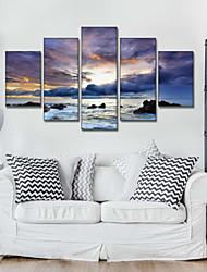 Художественная печать Пейзаж Modern,5 панелей Горизонтальная Пигментная печать Декор стены For Украшение дома