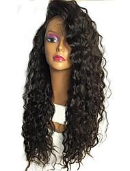 8 '' - 26''hot curly glueless cabelos cheios de renda cabelo humano perucas com cabelo bebê 130% densidade peles de renda completa