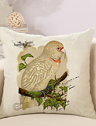 1 Pcs European Style Branch Parrot Pillow Case Sofa Cushion Cover Classic Pillow Cover