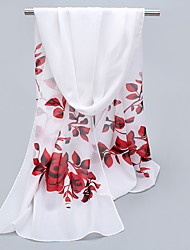 Chiffon Scarves Floral Korea Scarf Shawl Thin Long Rectangle Women's Beach UV Sunscreen Bohemia Retro Print