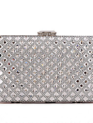 Women Evening Bag Glass Polyester All Seasons Wedding Event/Party Formal Party & Evening Club Minaudiere Rhinestone Crystal Clasp Lock