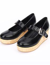 Lolita Shoes Gothic Lolita Classic/Traditional Lolita Punk Lolita Lolita Platform Lolita 6 CM Black ForPU Leather/Polyurethane Leather PU
