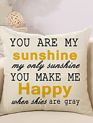 1 Pcs You Make Me Happy Quotes & Sayings Printing Pillow Cover Fashion Cushion Cover Pillow Case