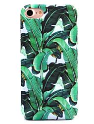 Pour apple iphone 7 7 plus 6s 6 plus couverture de boîtier feuilles vertes décalcomanie de modèle soin de peau toucher pc matériel casier