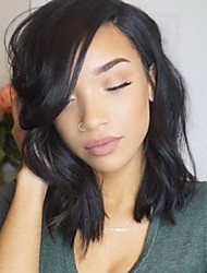 2017 Hot Selling Natural Wave Hair Style Guleless Lace Front Wigs Full Lace Wig Natural Hairline Bob Wig For Black Women