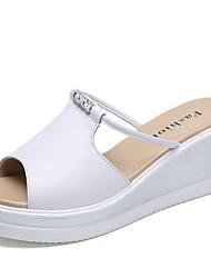 Для женщин Сандалии Удобная обувь Светодиодные подошвы Телячья шерсть Лето Повседневные Для прогулок Удобная обувь Светодиодные подошвы