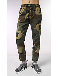 Men's Mid Rise Micro-elastic Straight Pants,Active Straight Camouflage