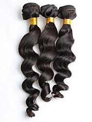 Novo arrvial 150g 3pcs / lot 8-26inch cabelo virgem brasileiro cabelo preto ondulado natural natural preto tece