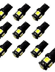La lavagna 2w 5 * 5050 di 10pcs ba9s / t10 ha condotto la luce bianca leggera 6500-7000k 12v
