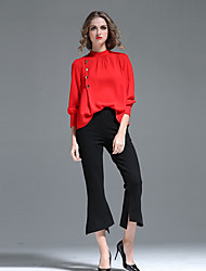 Dámské Jednoduchý Šik ven Mikro elastické Flare Kalhoty Prodloužené High Rise Jednobarevné