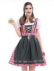 Costumes de Cosplay Costumes de carrière Fête d'Octobre/Bière Serveur / Serveuse Fête / Célébration Déguisement d'Halloween Mosaïque Robe