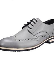 Herren Schuhe Leder Frühling Komfort Sneakers Für Normal Schwarz Grau Hellbraun