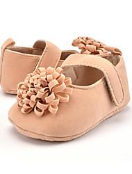 Niños Bebé Zapatos de taco bajo y Slip-Ons Primeros Pasos Microfibra Otoño Invierno Casual Vestido Fiesta y Noche Primeros Pasos Flor