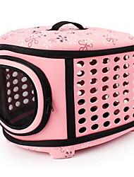 Кошка Собака Переезд и перевозные рюкзаки Животные Корпусы Компактность Дышащий Цветы Бежевый Серый Розовый
