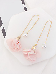 Women's Drop Earrings Imitation Pearl Euramerican Fashion Alloy Flower Jewelry For Party Daily Casual 1 Pair