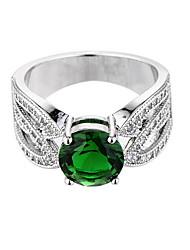 Bague féminine émeraude design unique euramerican fashion zircon bijouterie en émeraude bijoux en vrac 147 mariage spécial occasion