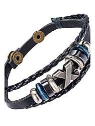 Муж. Кожаные браслеты Бижутерия Природа Мода Кожа Сплав Бижутерия Для Особые случаи Спорт 1шт