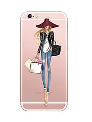Para iPhone X iPhone 8 Carcasa Funda Ultrafina Diseños Cubierta Trasera Funda Chica Sexy Suave TPU para Apple iPhone X iPhone 8 Plus