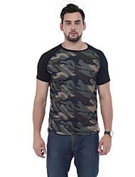 Tee-shirt Homme,Mosaïque Décontracté simple Printemps Manches Courtes Bijoux 100% coton 90% Polaire 10% Soie Naturelle 30D