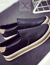 Women's Flats Comfort Fabric Spring Casual Comfort Black White Flat