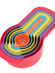 Rainbow Measuring Cups the Amount of Color 6 Sets of Colorful Spoon Thick Section of the kitchen Baking Tools Random Color